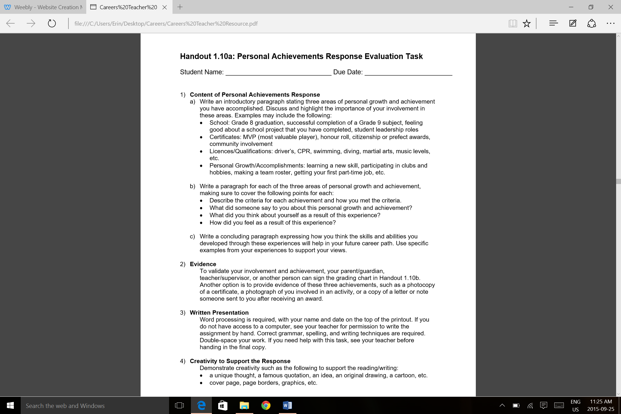 achieved a personal goal essay A personal goals statement is an essay describing why you want to pursue grad school, your career goals, and why the program you're applying to is your best fit.